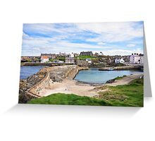 Portsoy 17th Century Old Harbour  Greeting Card
