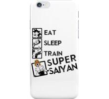 Eat Sleep Train go Super Saiyan iPhone Case/Skin
