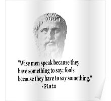 Quote By Plato Poster