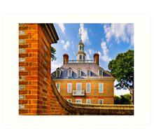 Beyond The Wall - Colonial Williamsburg Art Print