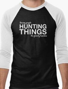 Supernatural - Saving People, Hunting Things, The Family Business - White Men's Baseball ¾ T-Shirt