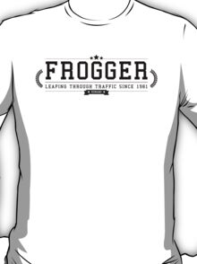 Frogger - Retro Black Clean T-Shirt