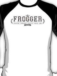 Frogger - Retro Black Dirty T-Shirt