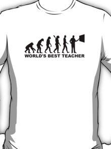 World's best teacher Evolution T-Shirt