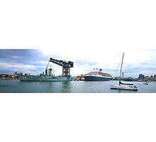 Morning Welcome - The Queen Mary 2 Photographic Print
