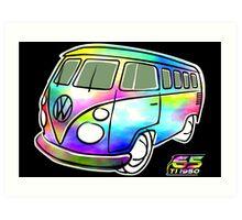 Psychedelic VW bus Art Print