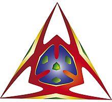 Alien Triangle Photographic Print