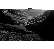 Grose Valley from Evans Lookout Photographic Print