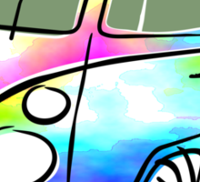 Psychedelic VW bus Sticker
