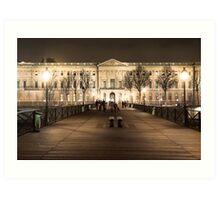 Louvre et le Pont des Arts Art Print