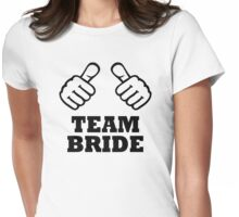 Team bride bachelorette party Womens Fitted T-Shirt