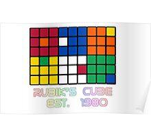 Rubik's Cube Est 1980 Poster
