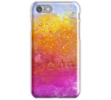 Landscape in Gold, Pinks and Blue iPhone Case/Skin
