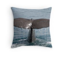 Sperm Whale Sounding Throw Pillow