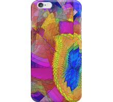 Yellow Feather Fractal iPhone Case/Skin