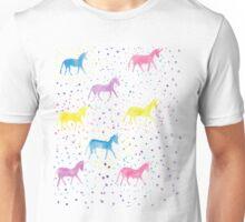Happy Sparkly Unicorn Happiness pastel colours Unisex T-Shirt
