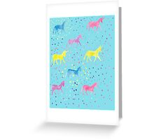 Happy Sparkly Unicorn Happiness pastel colours Greeting Card
