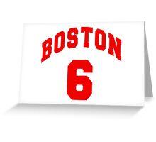 Jack Parker - BU #6 - white jersey Greeting Card