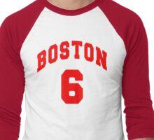 Jack Parker - BU #6 - white jersey Men's Baseball ¾ T-Shirt