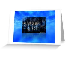Michigan Winter Sky Greeting Card
