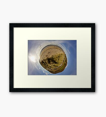 Lisfannon Beach, Fahan, County Donegal, Sky Out Framed Print