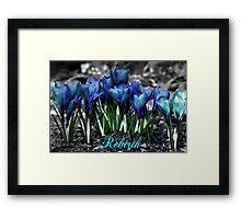 Spring Rebirth - Text Framed Print