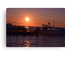 trying to hail a water taxi? Canvas Print