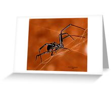 Electric Orange Slide    ( Black Widow Series) Greeting Card