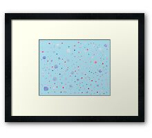 polka dot pattern hand painted water color  Framed Print