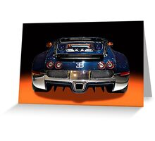 Bugatti luxury sport car back view Greeting Card