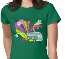 60's Van with Foulli and Gerbera Womens Fitted T-Shirt