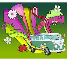 60's Van with Foulli and Gerbera Photographic Print