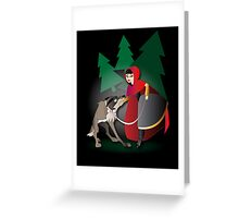 Twisted - Little Red Riding Hood Greeting Card