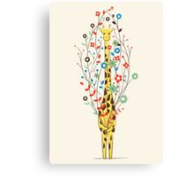 I Brought You These Flowers Canvas Print