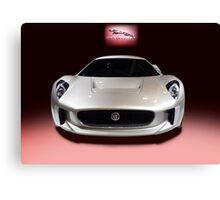 Jaguar White Canvas Print