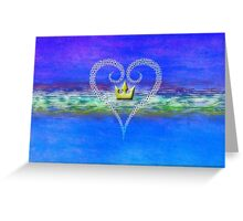 Kingdom Hearts Heart and Crown Greeting Card