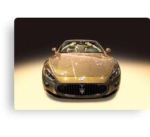 Maserati gold colour Canvas Print