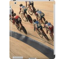 Cycling in a curve iPad Case/Skin