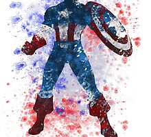 Captain America Splatter Graphic by ProjectPixel