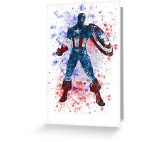 Captain America Splatter Graphic Greeting Card