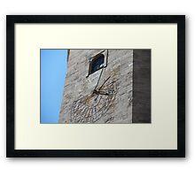 Old Tower sundial Framed Print