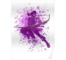 Hawkeye Splatter Graphic Poster