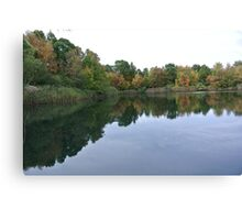 An Autumn Reflection Canvas Print