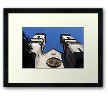 cross on the pediment the Basilica Framed Print