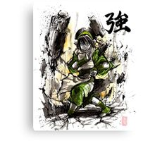 Toph from Avatar with sumi and watercolor Canvas Print