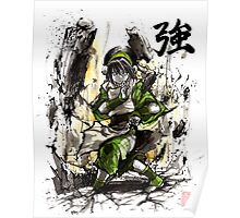 Toph from Avatar with sumi and watercolor Poster