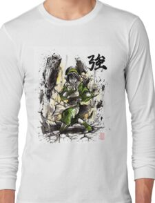 Toph from Avatar with sumi and watercolor Long Sleeve T-Shirt