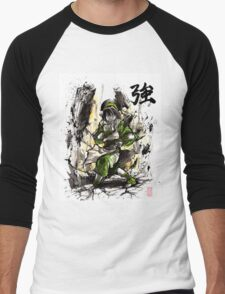 Toph from Avatar with sumi and watercolor Men's Baseball ¾ T-Shirt