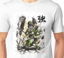 Toph from Avatar with sumi and watercolor Unisex T-Shirt