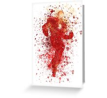 Iron Man Splatter Graphic Greeting Card